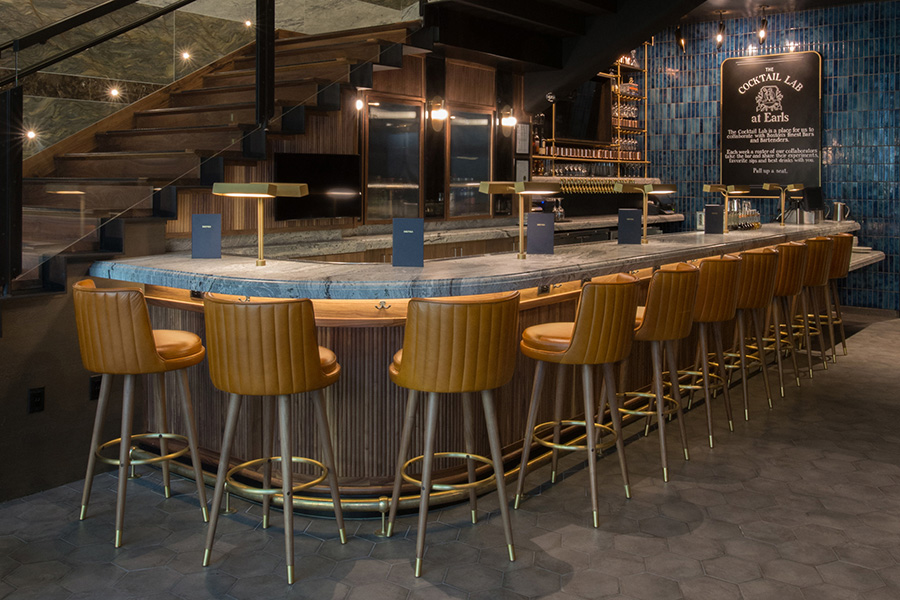 The cocktail lab is the first-floor bar at Earls at the Prudential Center