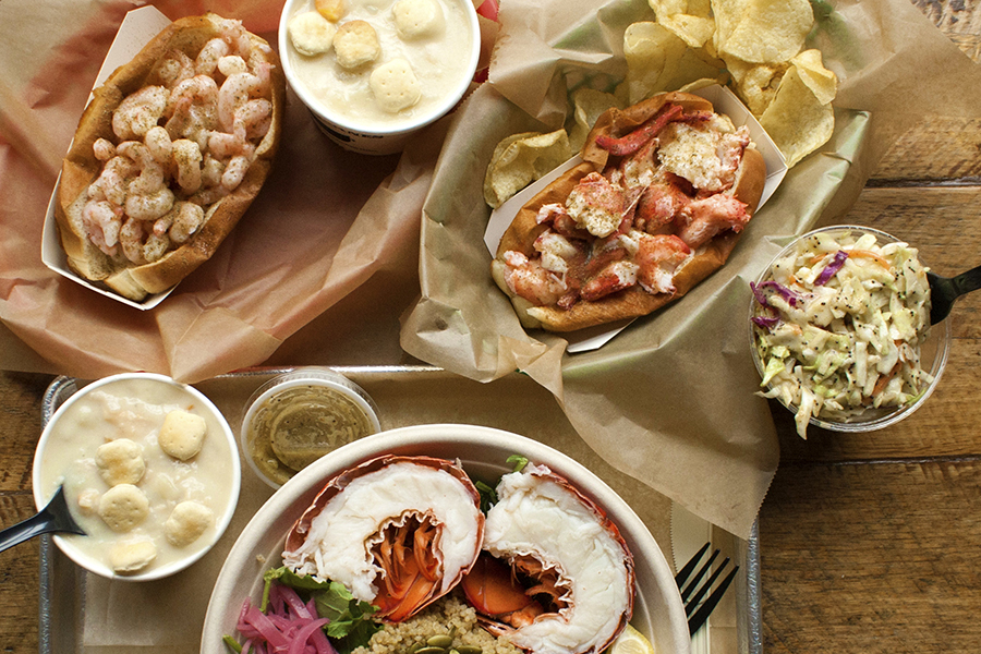 A spread at Luke's Lobster, much like what you could eat at the new Seaport restaurant later this month
