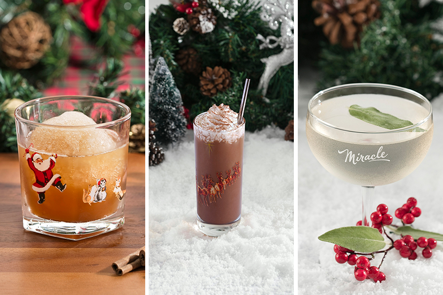 (L to R) Snowball Old Fashioned, Run Run Rudolph, How The Gimlet Stole Christmas at Miracle
