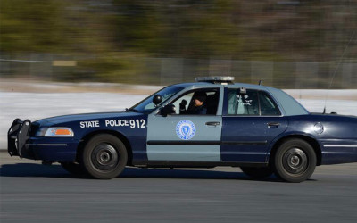 A State Police vehicle