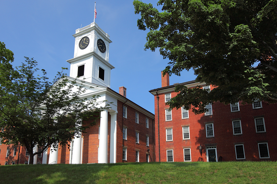 The Amherst College campus