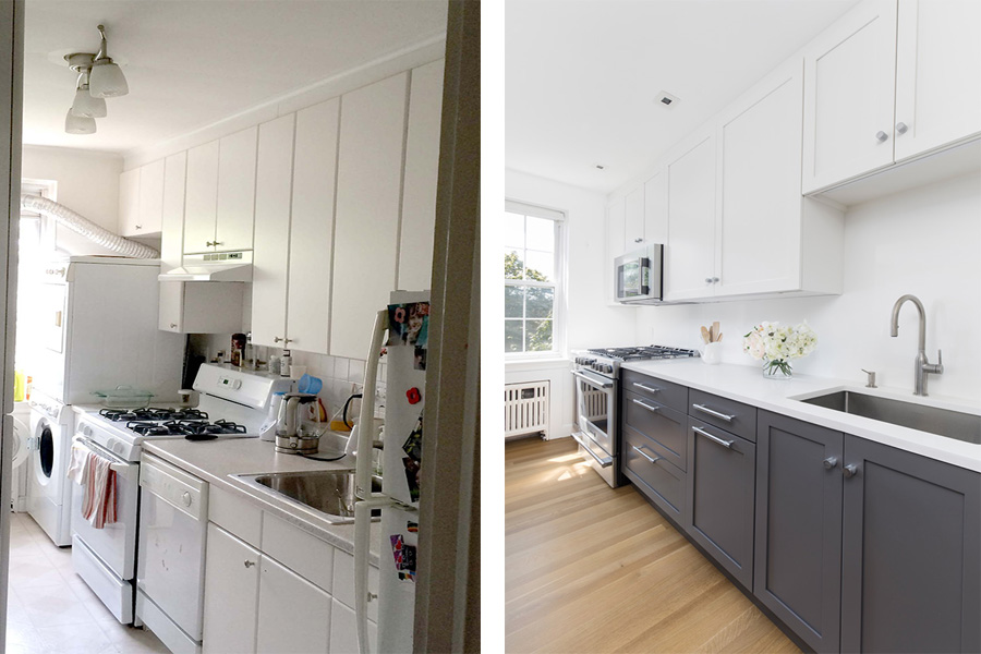 Before And After: A Galley Kitchen Gets The Modern Treatment