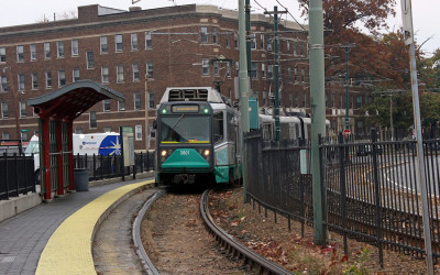 The green line rolls in