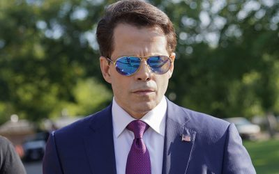 Anthony Scaramucci in aviators and a suit