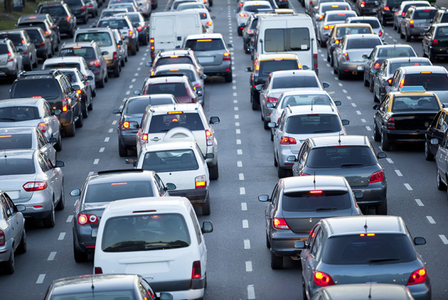 Cars in gridlock