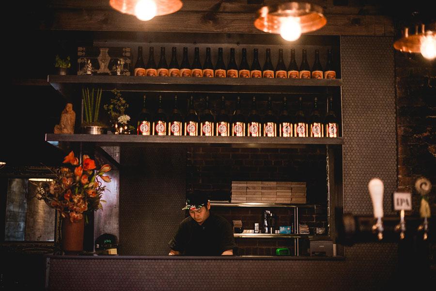 The sushi bar at Fat Baby