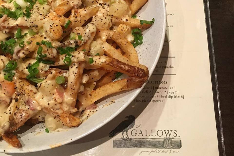 The Gallows' clam chowder poutine