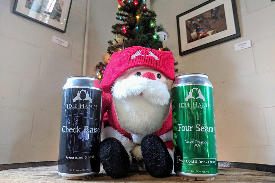 Idle Hands Dec. beer release check raise four seap IPA