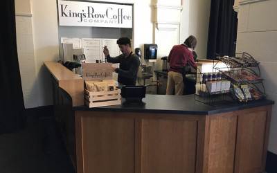 King's Row Coffee kiosk at 401 Park in Fenway