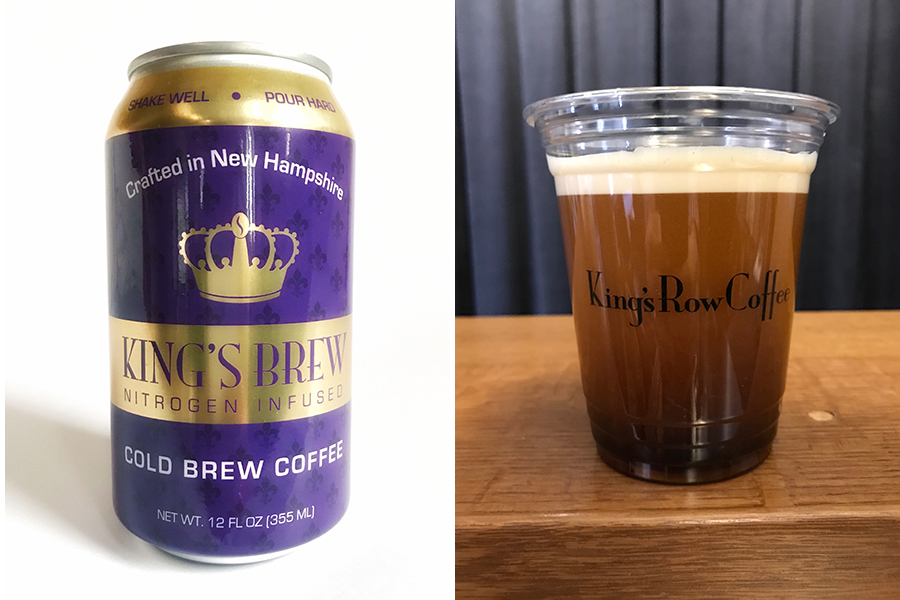 King's Row Coffee sells nitro cold brew in cans, and on draft at 401 Park in Fenway