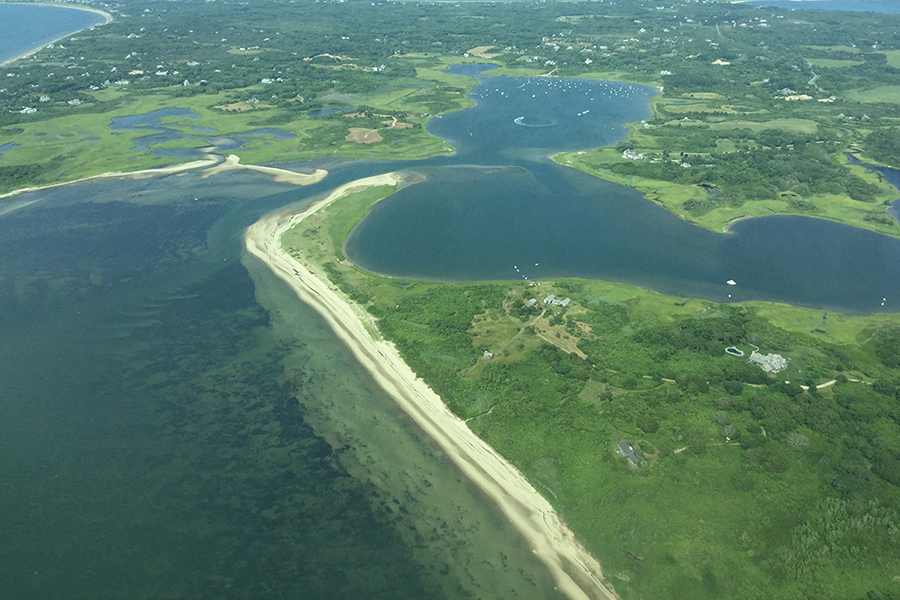 The coast of Nantucket taken from above