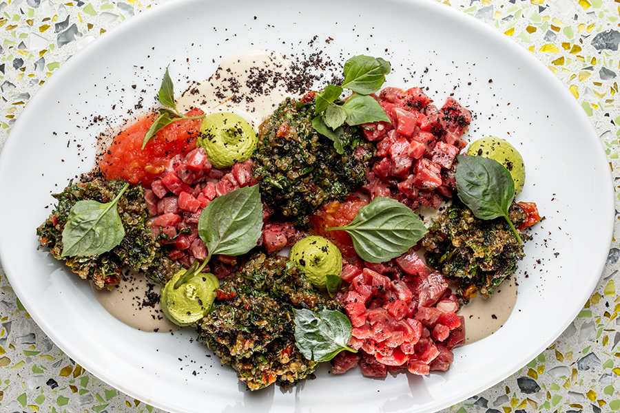 Beef tartare at Our Fathers Deli