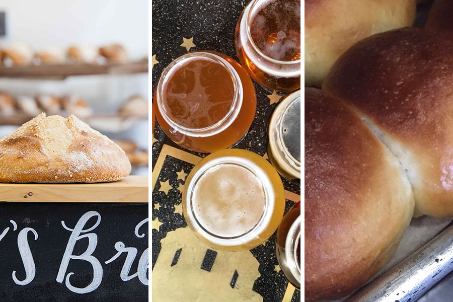 A collage of different gluten-based treats in Somerville
