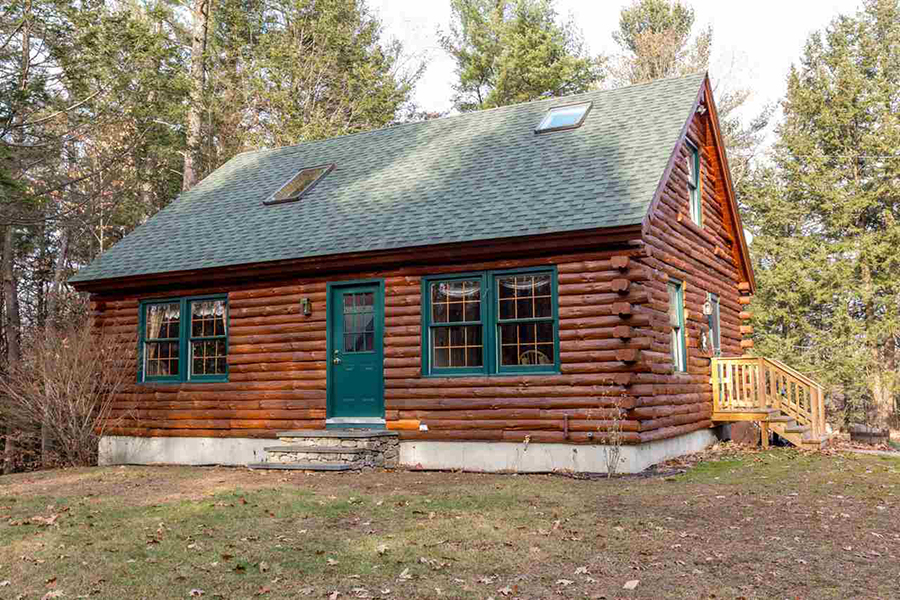 On the market a log cabin in new hampshire boston magazine for One room log cabin for sale