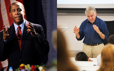 Setti Warren and Michael Dukakis