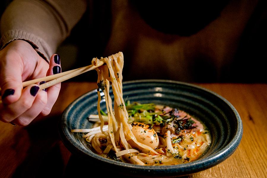 duck shoyu ramen at Brassica Kitchen