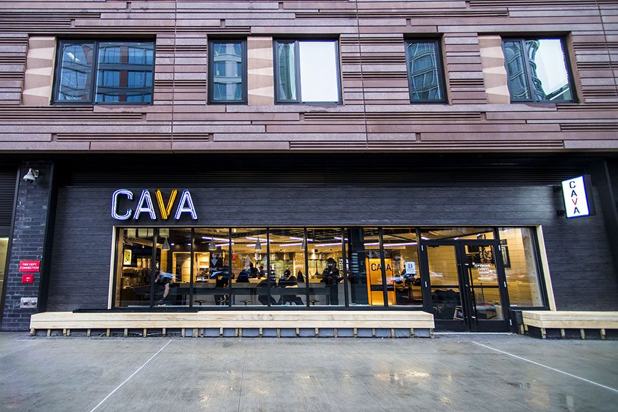The exterior of Cava in Fenway
