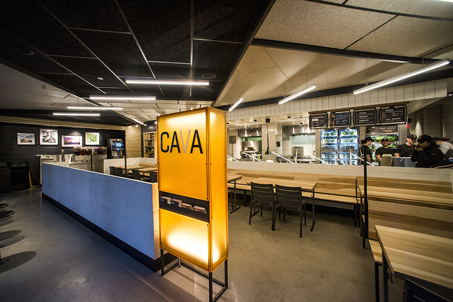 Enter the line to order at Cava in Fenway