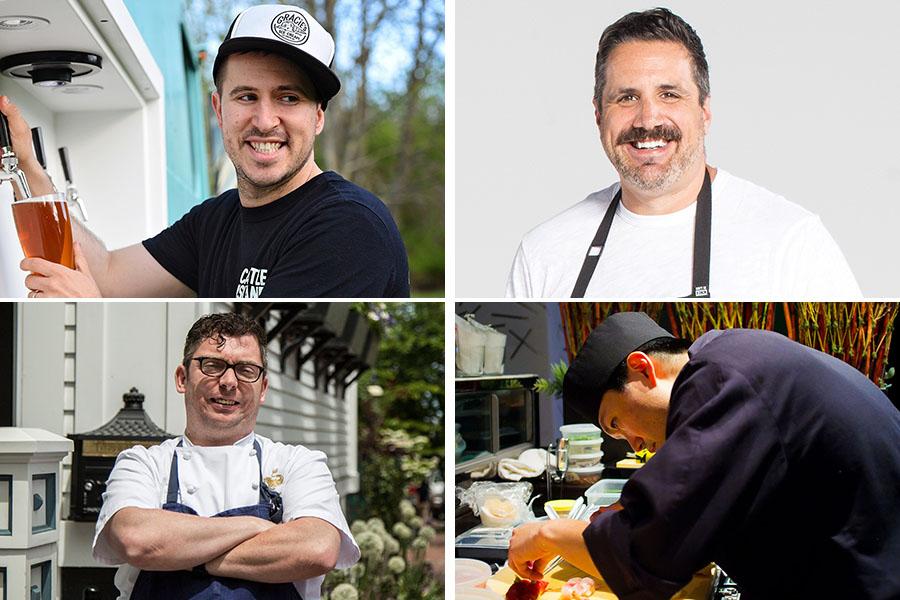 Boston chefs Avi Shemtov / Michael Scelfo / Marcus Ware / Youji Iwakura