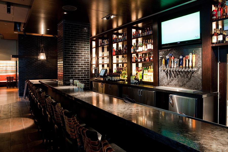 The tavern bar at Post 390