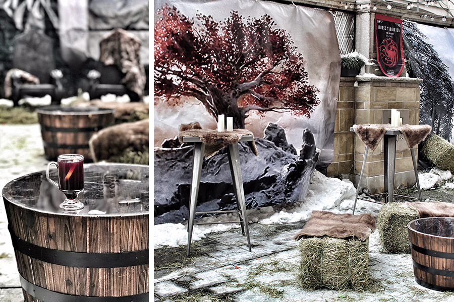 The Game of Thrones-themed patio bar at Precinct Bar + Kitchen