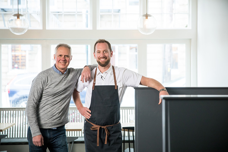 (L to R) Owner René Becker and executive chef Scott Jones at Shepard