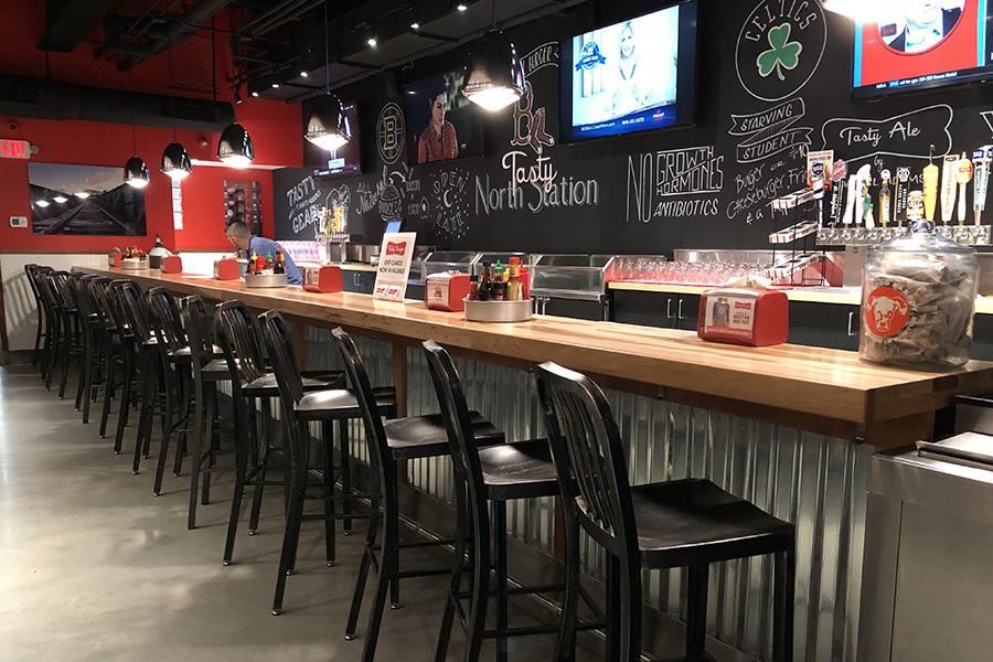 The bar at Tasty Burger North Station