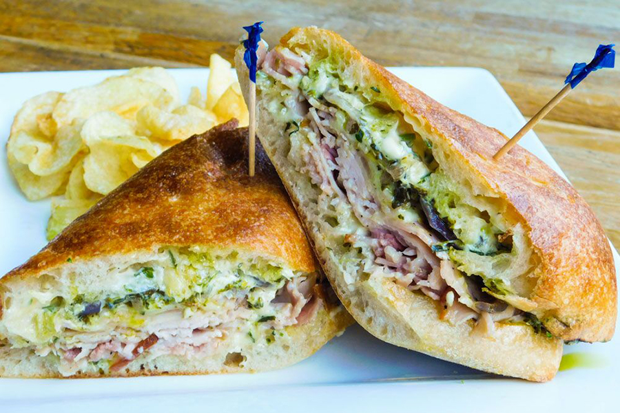 """chef William Kovel's """"the Fully Committed,"""" one of the newest sandwiches on the Parish Cafe menu"""
