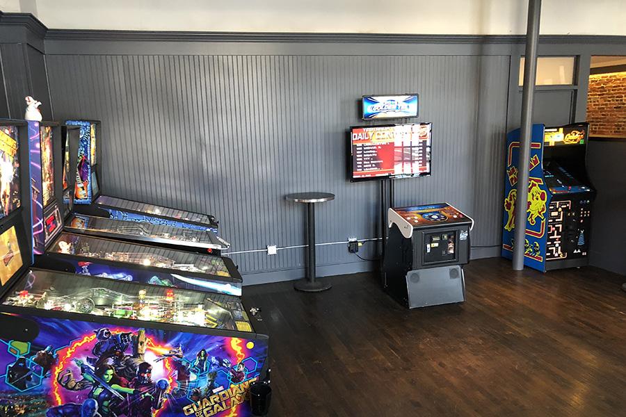 Arcade games at Trina's Starlite Lounge in Amesbury