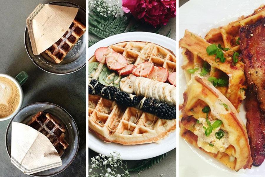 (L to R) Longfellows waffles / Jugos Supremo waffles / Tiger Mama waffles