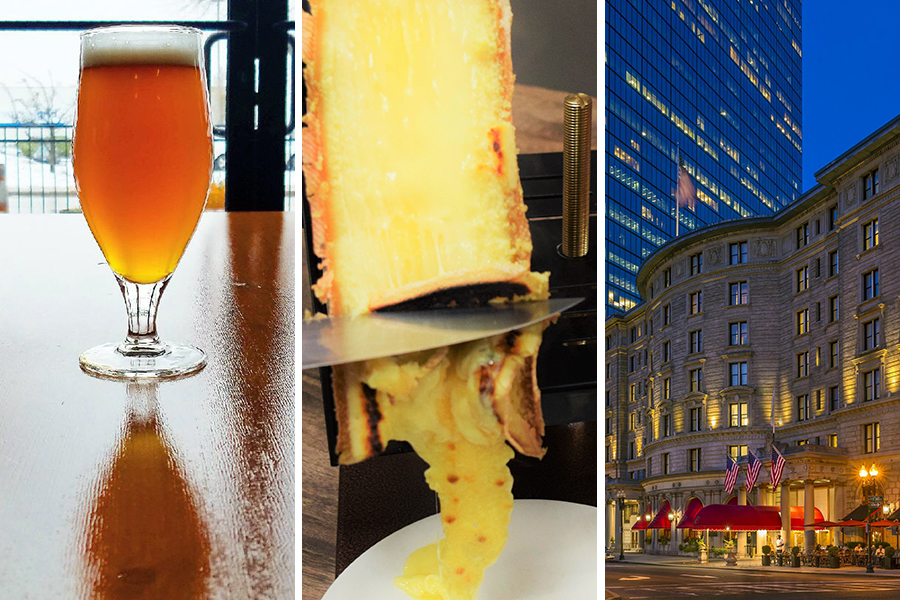 """Idle Hands """"With Wishes of Warmer Places"""" Farmhouse IPA photo by Brett Bauer / Eataly Le Alpi Raclette / Fairmont Copley Plaza"""