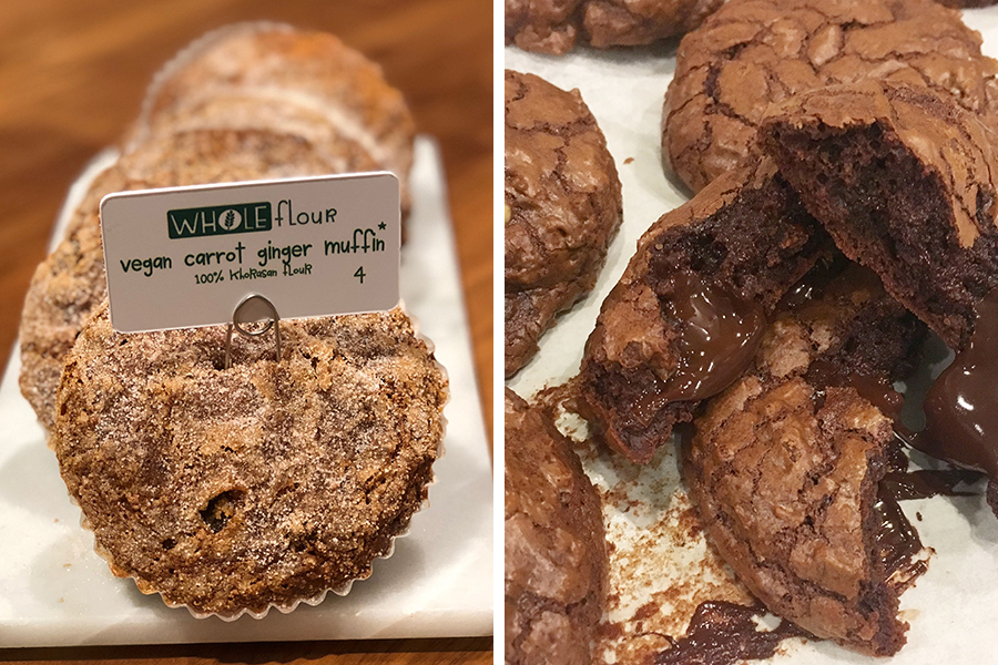 WHOLEFlour muffins and double-chocolate cookies at Flour Bakery