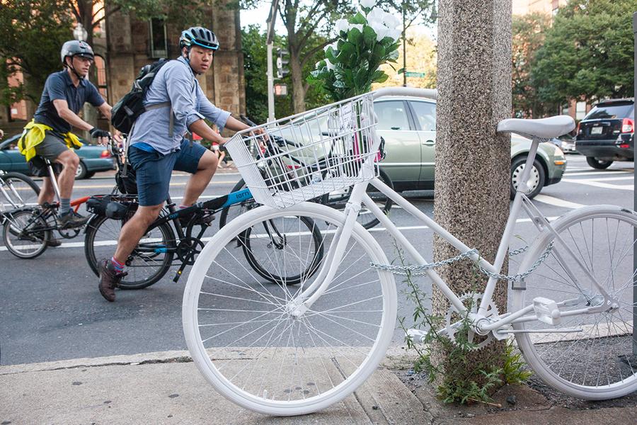 A white bike