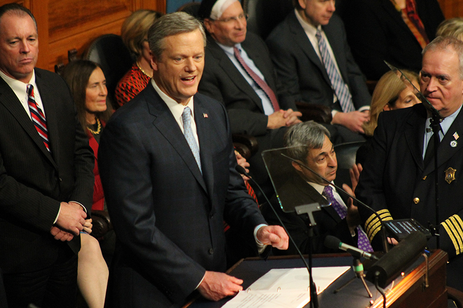 Charlie Baker speaks at the 2018 State of the Commonwealth