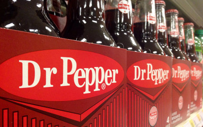 Dr Pepper bottles