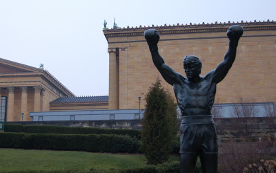 The Rocky Balboa statue outside the Philadelphia Museum of Art