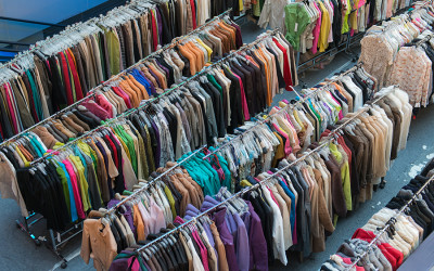 Racks of clothing