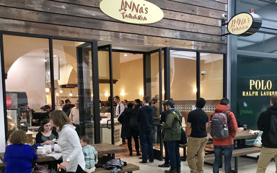 Anna's softly opened Wednesday evening inside the Prudential Center. It's now open daily