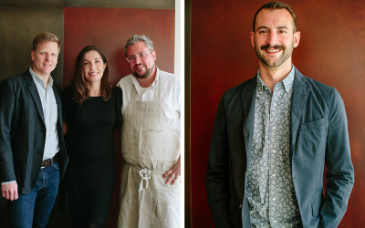 The Bar Mezzana Team (from left) partners Jefferson Macklin, Heather Lynch, and chef Colin Lynch and bar director Ryan Lotz will open Shore Leave in 2018