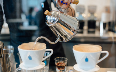 Pour over coffee at Blue Bottle Coffee