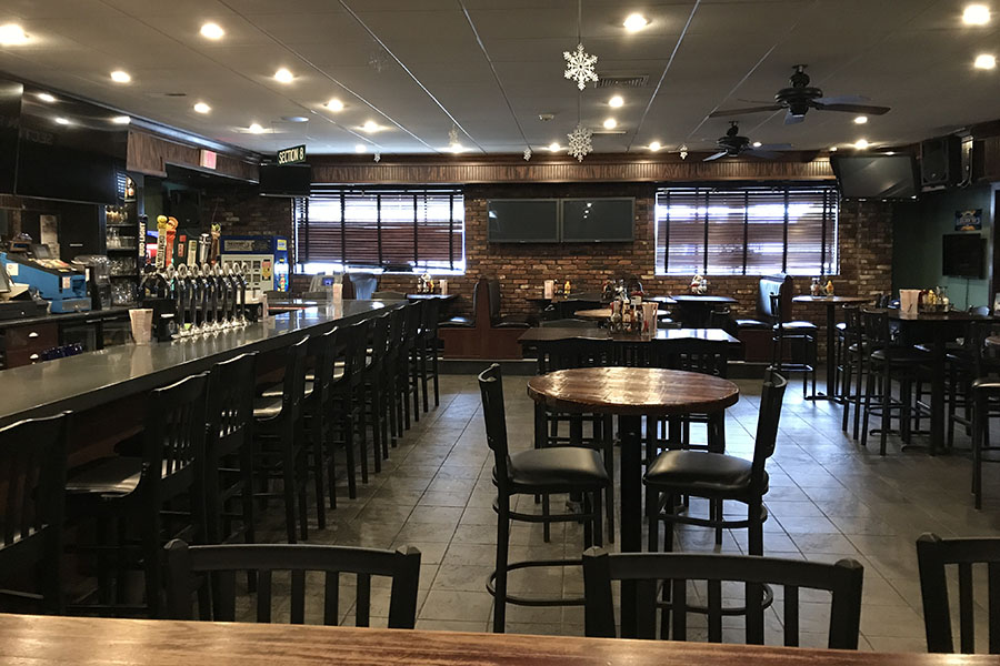 The bar at Canton Junction Sports Pub