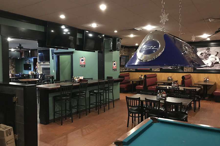 The lounge area at Canton Junction Sports Pub