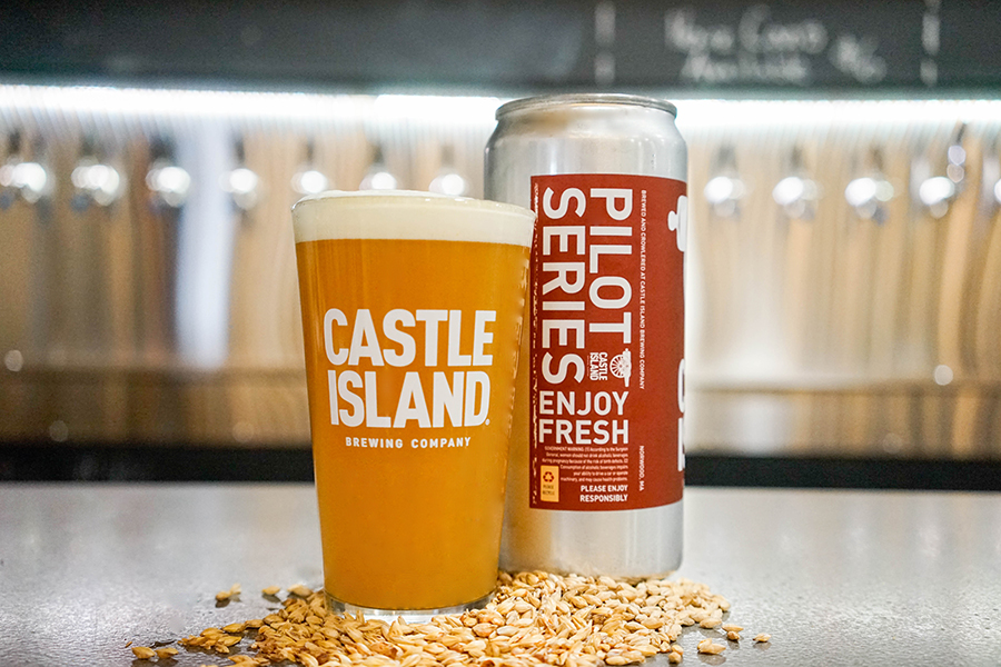 Pints and crowlers of Castle Island Brewing's Goenbae Pale Ale support the Team USA Fund