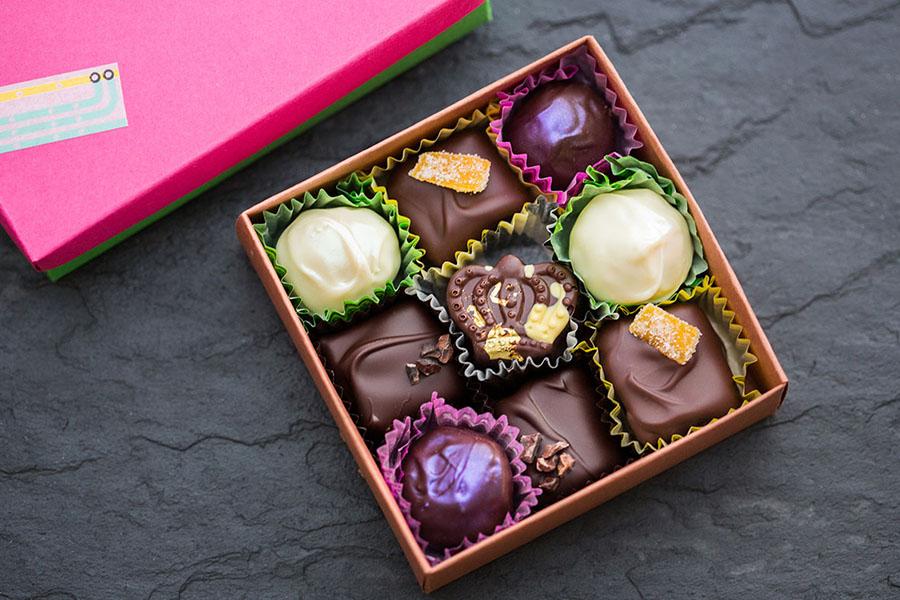 A sampler of Gate comme des Filles chocolates