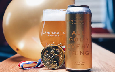 Lamplighter Brewing's dry-hopped All Gold Everything Olympic beer