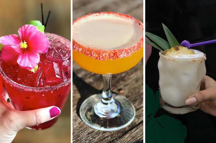 (L to R) Carly Rae Day at La Brasa photo via Instagram / The Paisano at Tres Gatos photo via Instagram / Piña Colada Margarita at the Rosebud photo via Instagram