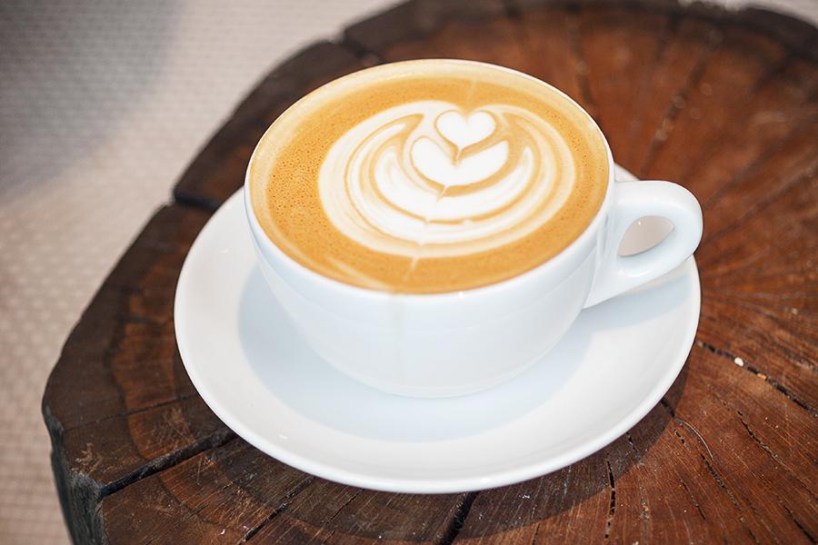 A latte at Pavement