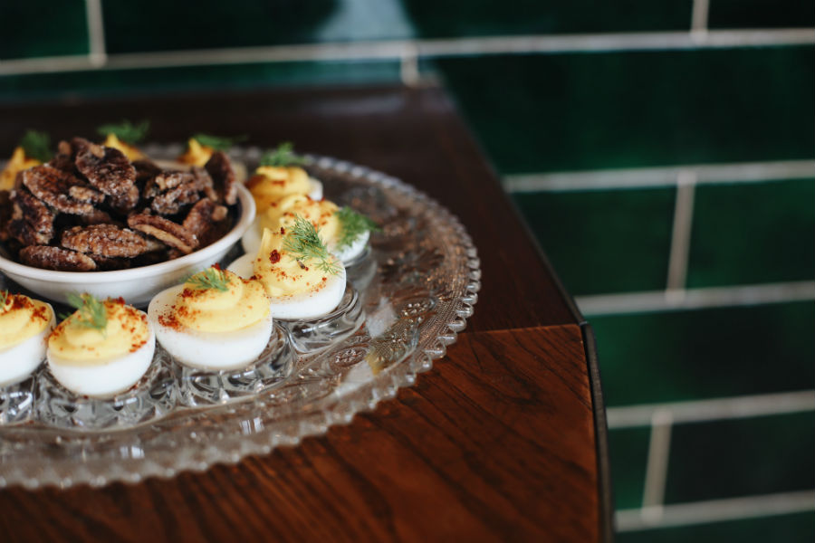 Deviled eggs at Southern Proper in Boston
