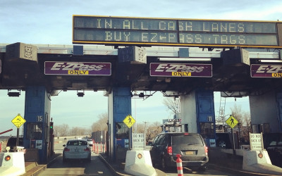 E-ZPass toll booth lanes