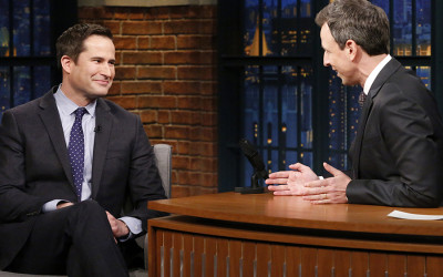 Seth Meyers and Seth Moulton
